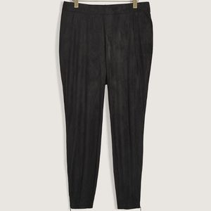Additionelle | Stretch Faux Suede Leggings